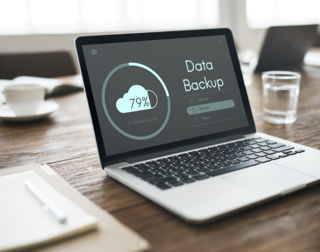 Data backup on a laptop