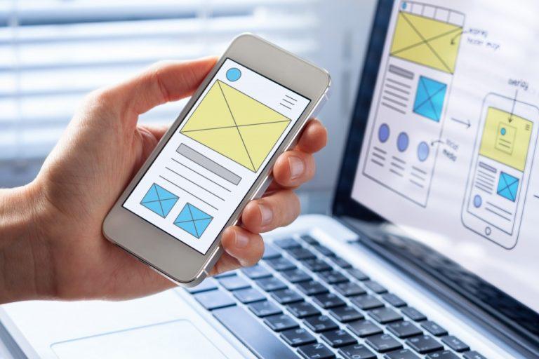 website design on desktop and mobile