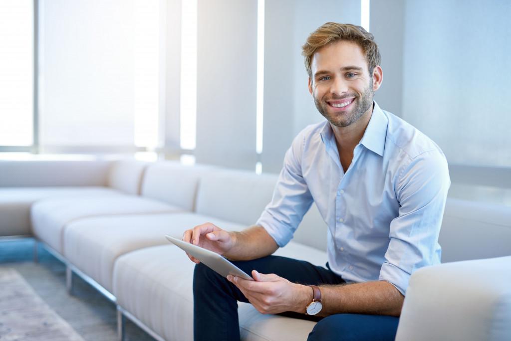 entrepreneur sitting